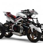 Мотоцикл с четырьмя колёсами фото