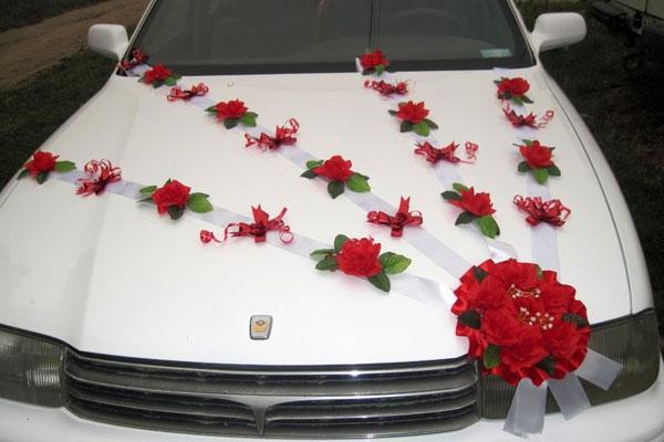Как сделать украшения на свадебную машину своими руками