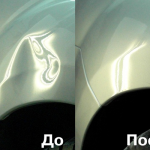 Удаление мелких вмятин на авто