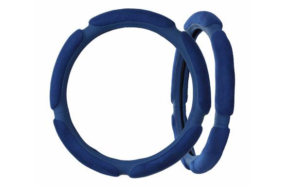 Материал оплетки на руля синий цвет