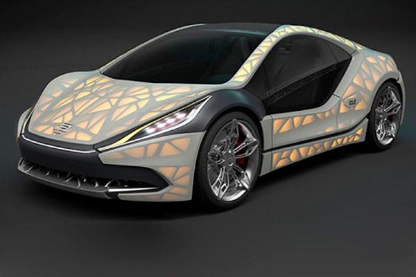 Автомобиль на 3D-принтере фото