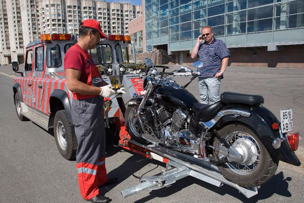 Эвакуировать мотоцикл